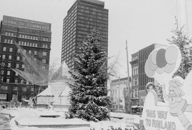 Gore Park at Christmas 1976