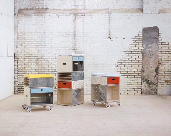 Trolley è un sistema di archiviazione modulare progettato dal duo di designer Jan en Randoald per Labt, uno studio belga che produce mobili su misura.