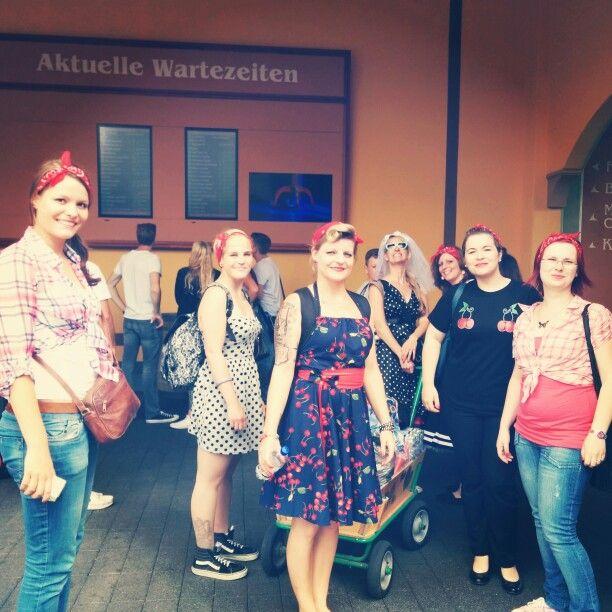 Rückblick auf unseren JGA: Die Crew :-P #rockabilly #bachelorette #party
