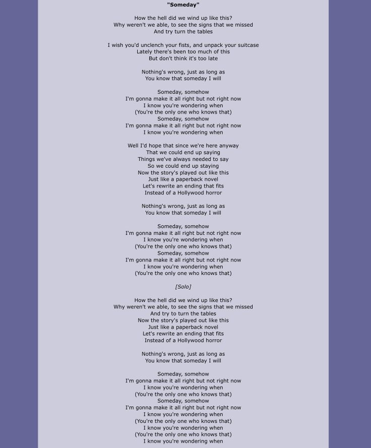 Best 25+ Nickelback someday lyrics ideas on Pinterest | Photograph ...