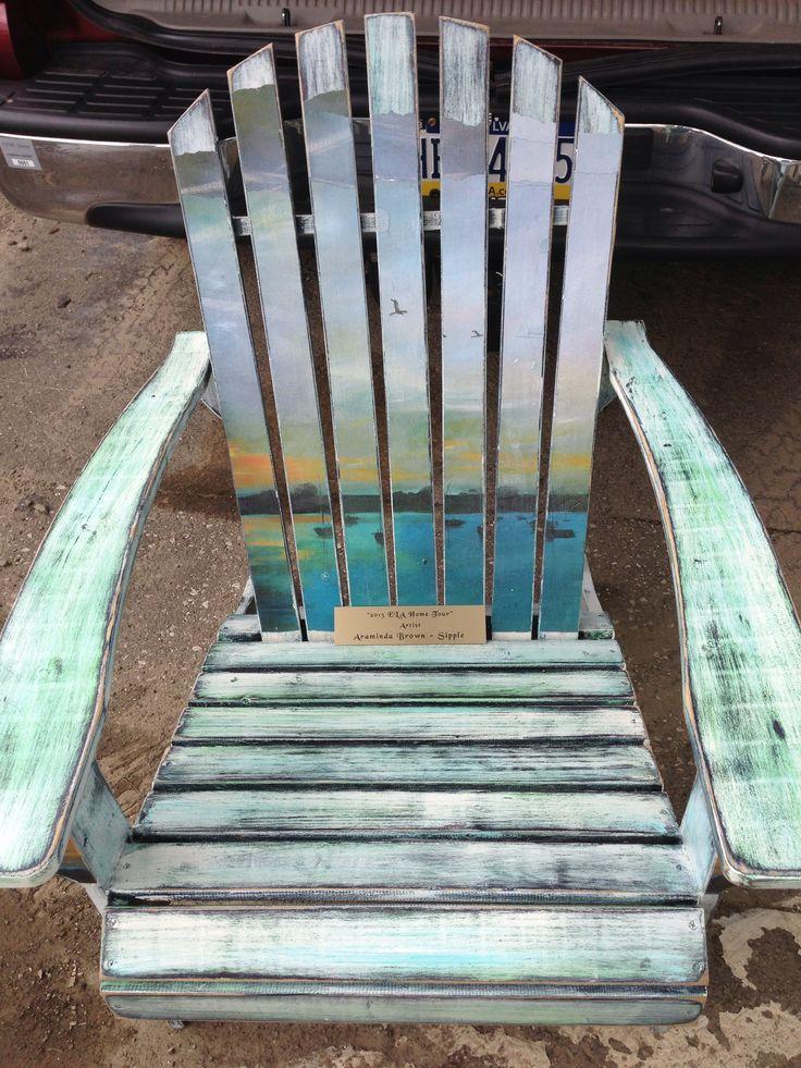 Hand painted Adirondack chair for Edinboro Lakeside