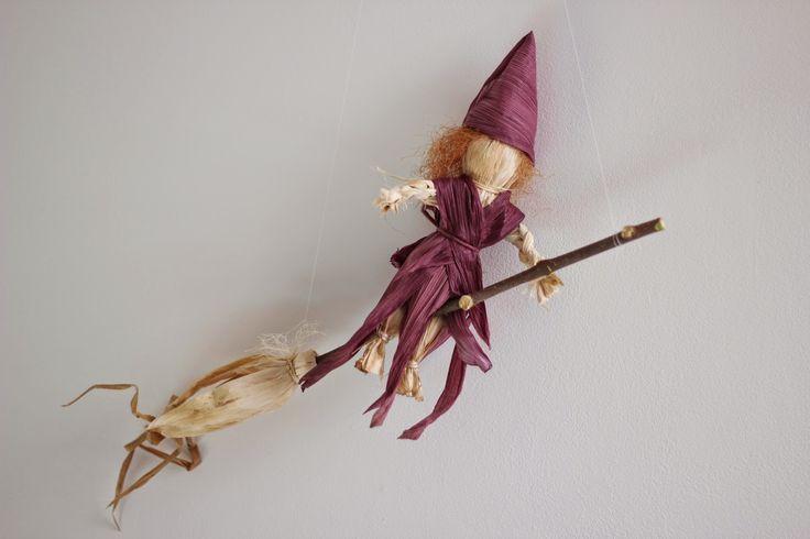 Morrow Farm Fresh: Happy Halloween : Corn Husk Witch Craft