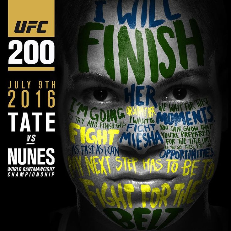 Amanda Nunez  #UFC200 promo poster (vs Miesha Tate) : if you love #MMA, you'll love the #UFC & #MixedMartialArts inspired fashion at CageCult: http://cagecult.com/mma