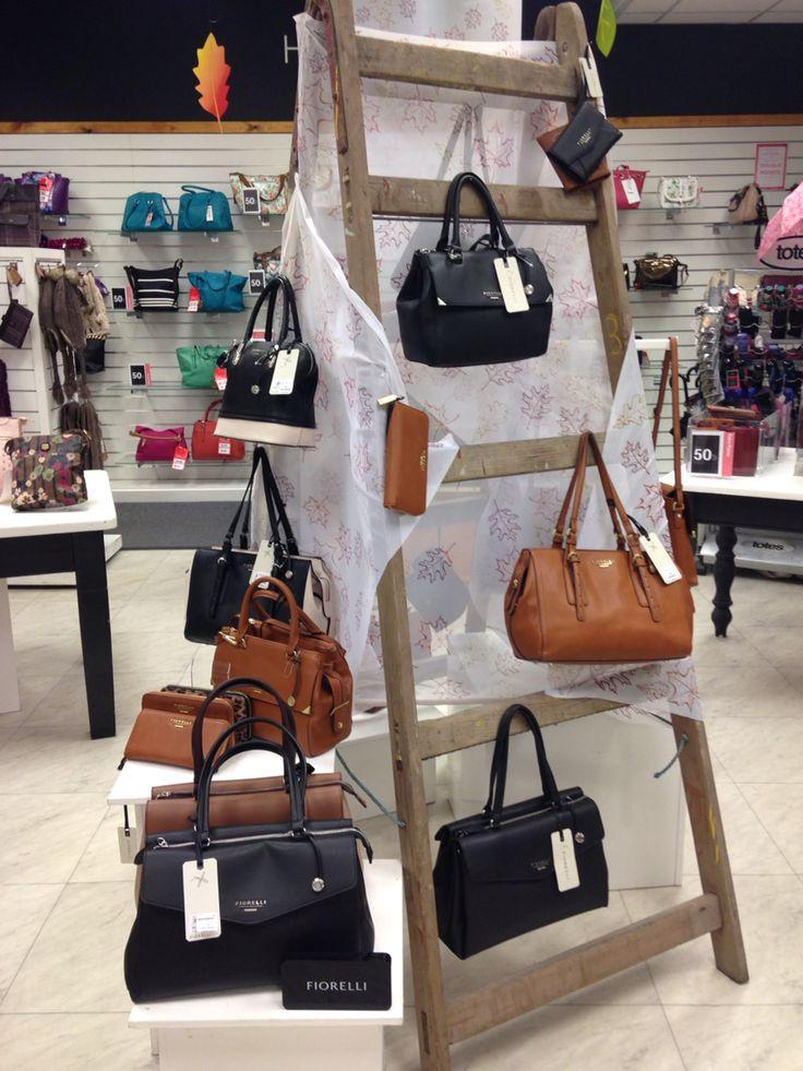 Aw15 handbag display #ladderdisplay #fiorelli @lovebeales Keighley store