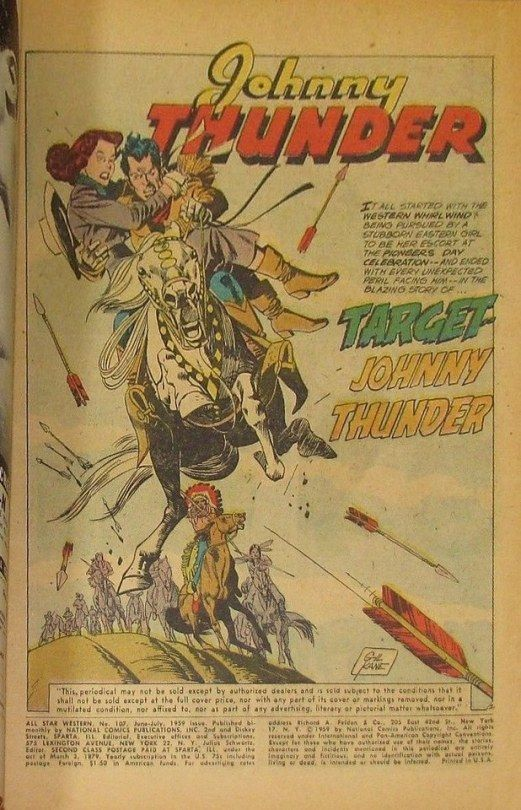 "DC COMICS ""ALL STAR WESTERN"" #107 JULY 1959 National Comics"