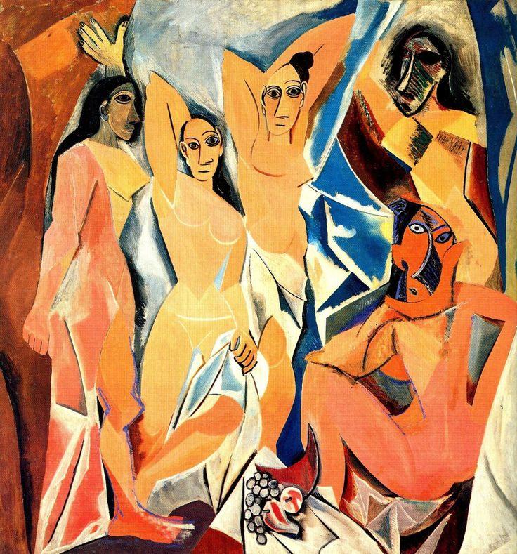 PABLO PICASSO. Las señoritas de Avignon. 1907.