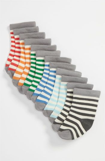Stem Baby Stripe Socks (6-Pack) (Infant) | Nordstrom