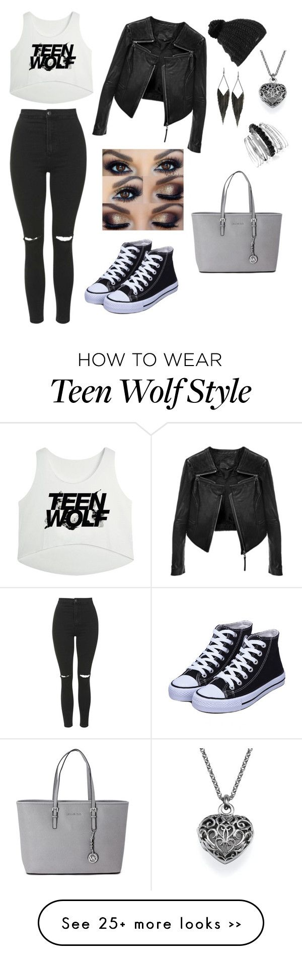"""Teen Wolf Fan Outfit"" by xlaramccall on Polyvore featuring Topshop, Linea Pelle, Burton, GUESS, Avenue and Michael Kors"