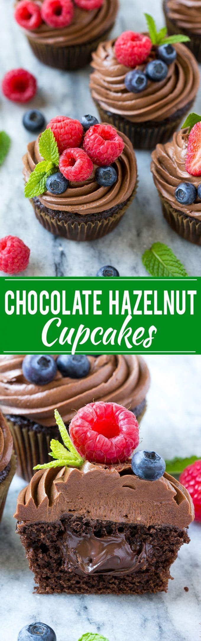 Chocolate Hazelnut Cupcake Recipe | Best Chocolate Cupcake Recipe | Chocolate Nutella Cupcakes | Nutella Cupcakes | Nutella Cake