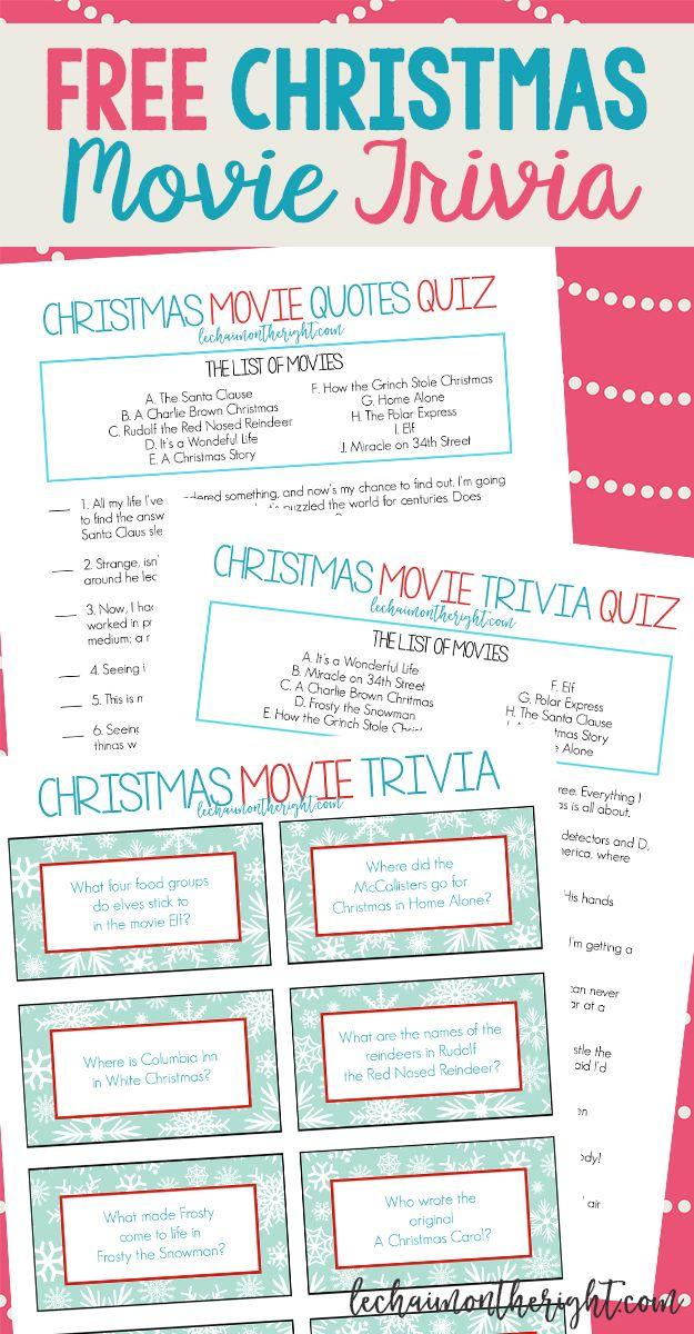 Free christmas quiz to print