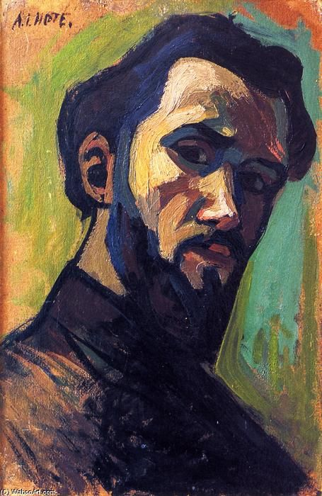 Autoportrait, fresques de Andre Lhote (1885-1962, France)