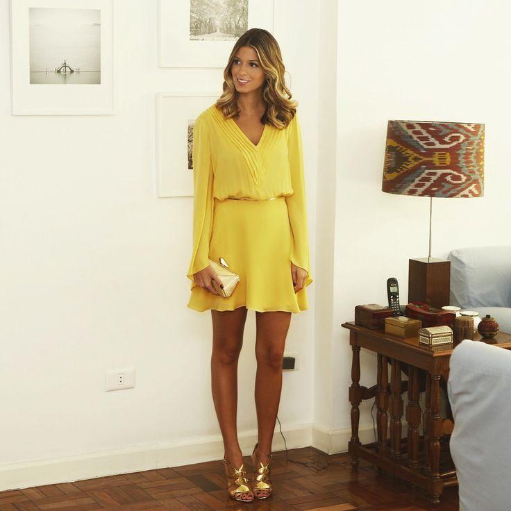 Vestido: Bobô amarelo
