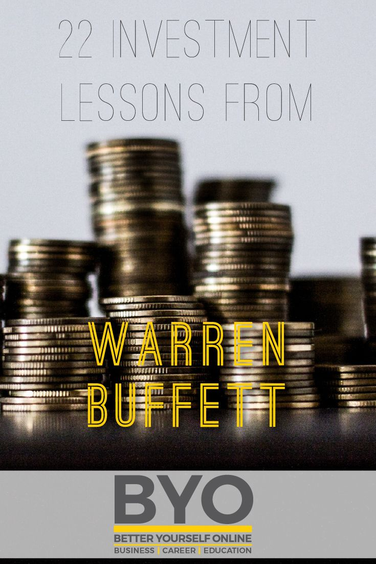 22 Investment Lessons from Warren Buffet
