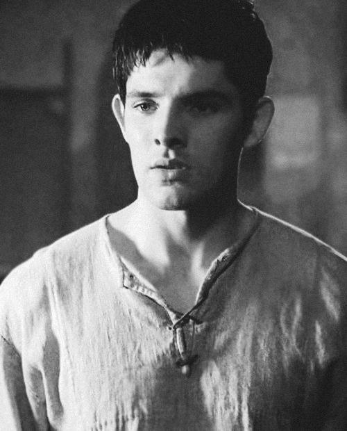 That awkward moment... When Merlin's not wearing a handkerchief