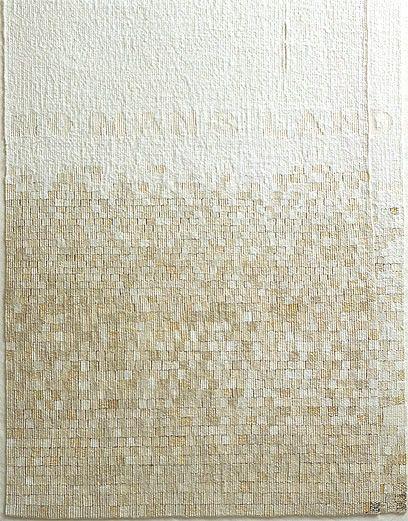 'No Mans Land', (detail) Sue Lawty 2004 Linen, raphia, hemp, cotton