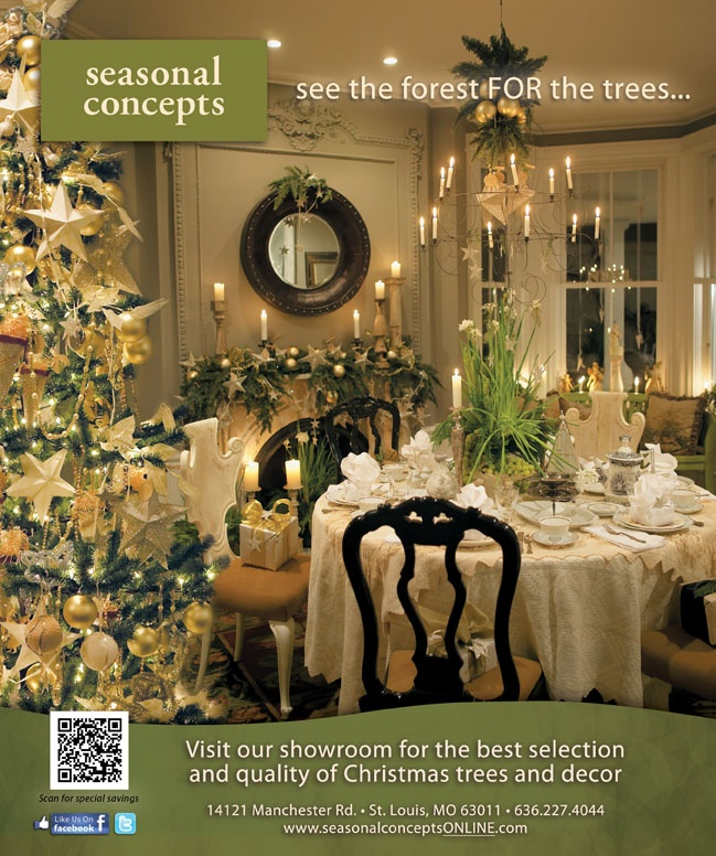 Holiday Dining ~ St. Louis At Home Magazine Seasonal Concepts Ad For  Christmas