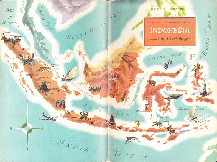 Old Map of Indonesia - if you've never been there, you should..