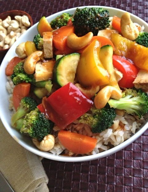 """Mix up veggies in this one too. This chef believes in """"no oil"""" cooking but you can use oil to sautee if you want. Great versitile sauce I use with lots of stir fries and kid friendly!"""