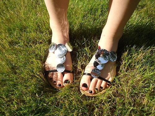 Rachel's feet on Tumblr