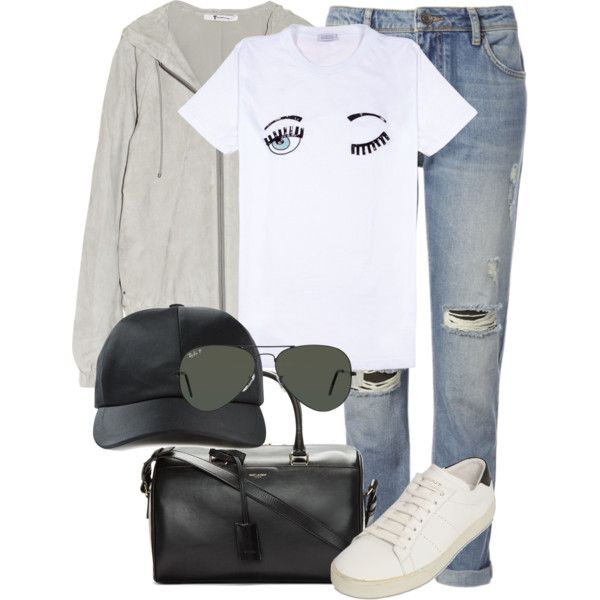 Untitled #1958 by anniesclothes on Polyvore featuring T By Alexander Wang, Whistles, Yves Saint Laurent, Alexander Wang and Ray-Ban