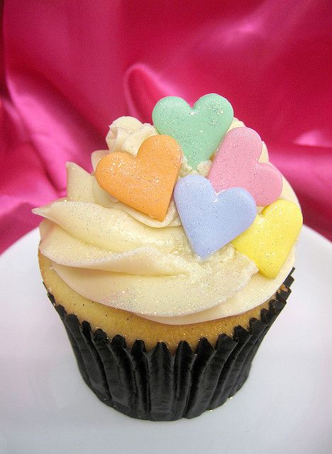 Inspiration for this years valentine bake sale -color reminiscent of conversation hearts without the silly sayings!