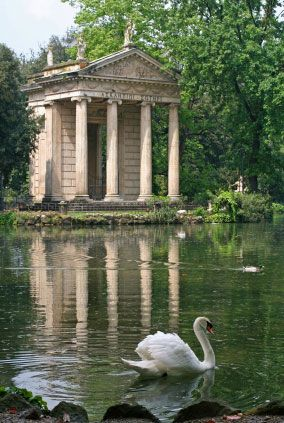 Villa Borghese is a large public park in modern Rome. Built in 1605 to be a private park of the Borghese family it became a government property in 1901 and was open to the public.