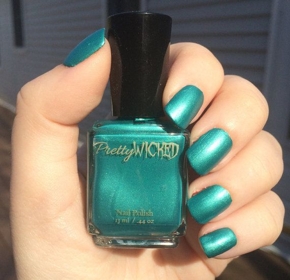 Turquoise Nail Polish by PrettyWickedPolish on Etsy