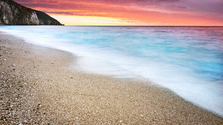 Ocean Beach Sunset 4K Ultra HD Desktop Wallpaper