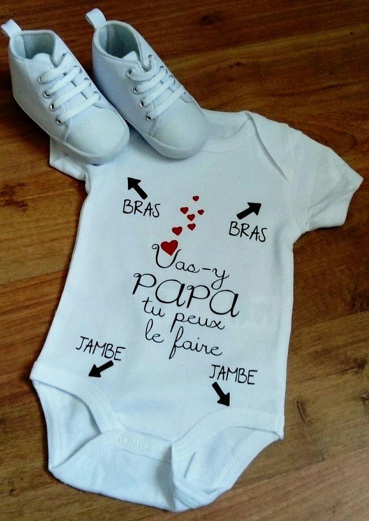 Body personnalisé idée cadeau naissance bébé mode d'emploi humour