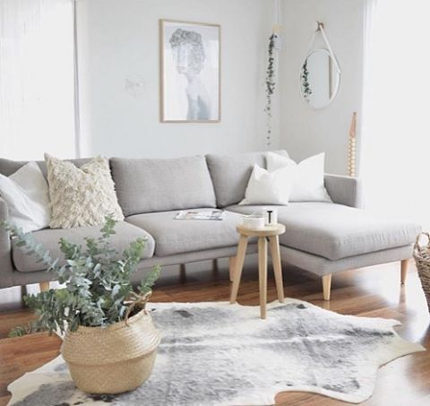 Annnd relax! We love this serene space that @kerryann_stylist has created featuring our Studio 2.5 seat modular sofa with chaise, now on sale until Monday #lovecominghome #sale