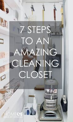 IHeart Organizing: UHeart Organizing: 7 Steps to an Amazing Cleaning Closet