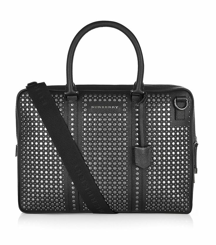 #BurberryLondon - Studded Leather Briefcase