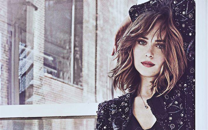 Download wallpapers 4k, Dakota Johnson, portrait, Hollywood, 2018, american actress, beauty, photoshoot