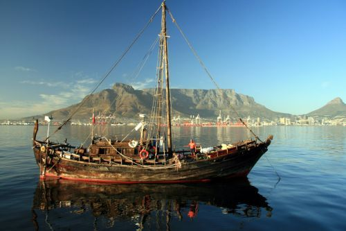 Replica of the boats Jan van Riebeeck used in 1652