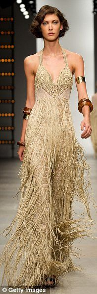 Mark Fast.: Crochet Dresses, Style, Gold Dresses, Runway, Beautiful Dresses, Beautiful Gowns, London Fashion Week, Fringes, Mark Fast