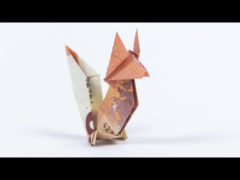 Geld falten Fuchs, Origami Geldgeschenk falten – Y…
