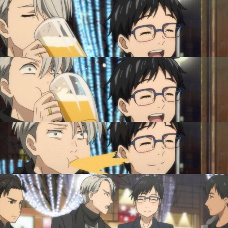 Victor's reaction to Yuuri not remembering that he got drunk and danced with Victor at last year's banquet is priceless . . . Yuuri's chubby cheeks are so adorable I just want to squish them
