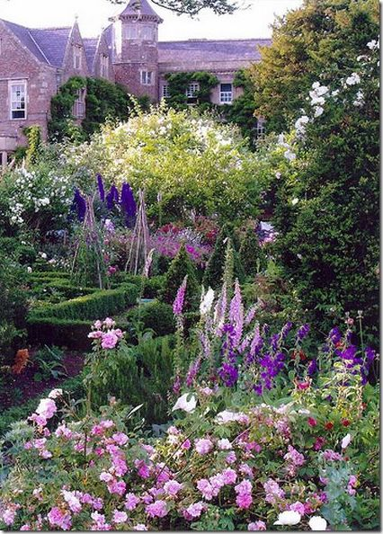 English-styled garden.