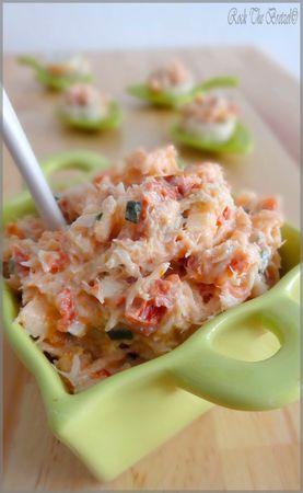 Rillettes de cabillaud aux tomates séchées, ciboulette et piment d'Espelette