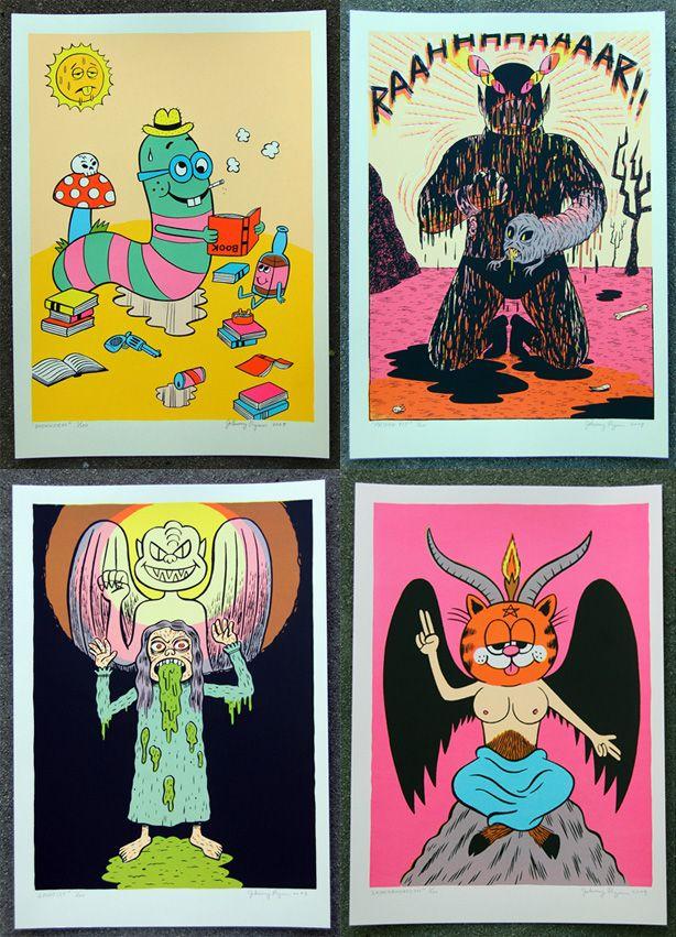 Johnny Ryan Silkscreen Prints