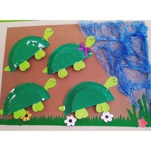 paper plate turtle craft (1)  sc 1 st  Pinterest & 1080 best Okul öncesi images on Pinterest | Mother\u0027s day Felt ...