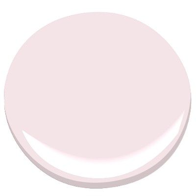 Ballerina Pink. The color of my bedroom. Now I just need new bedroom furniture and grey pinstripe duvet.