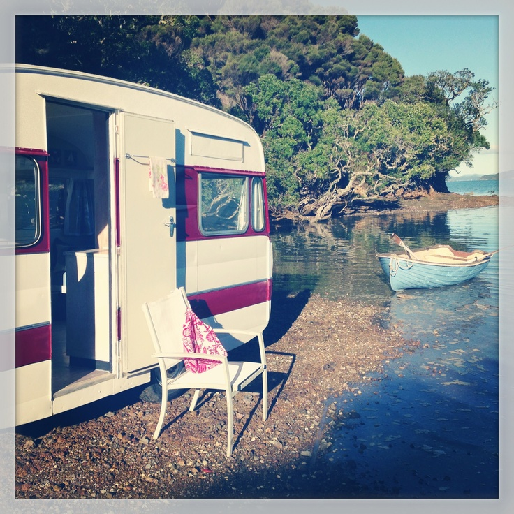 You can find this funky caravan for rent in the Bay of Islands, New Zealand for your perfect New Zealand beach holiday.  Click the photo for more info or click here >> http://www.classiccaravans.co.nz #newzealand #beach #holiday #travel