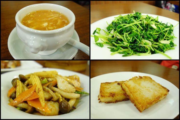 北京ダックを含めて120品から食べ放題っつーことでまずはサンラータン豆苗の塩炒め二種海鮮とXO醬炒め大根モチ#meallog #food #foodporn #tw