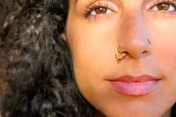 Soma. BeLeaf Jewelry. Indian septum jewelry 14k by BeleafJewelry, $98.00