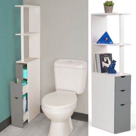Meer dan 1000 idee n over meuble wc op pinterest wc suspendu meuble pour w - Etagere porte assiettes gain de place ...