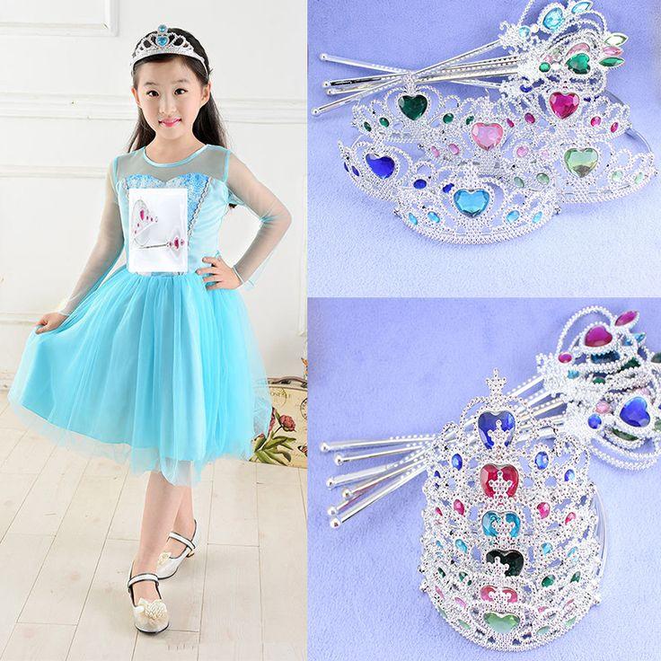 Hot Sale Frozen Crown Princess Elsa Cosplay Plastic elsa Crown Tiara Girls baby hairband Hair Accessories Magic Wand + Crown-in Hair Accessories from Kids & Mothercare on Aliexpress.com | Alibaba Group