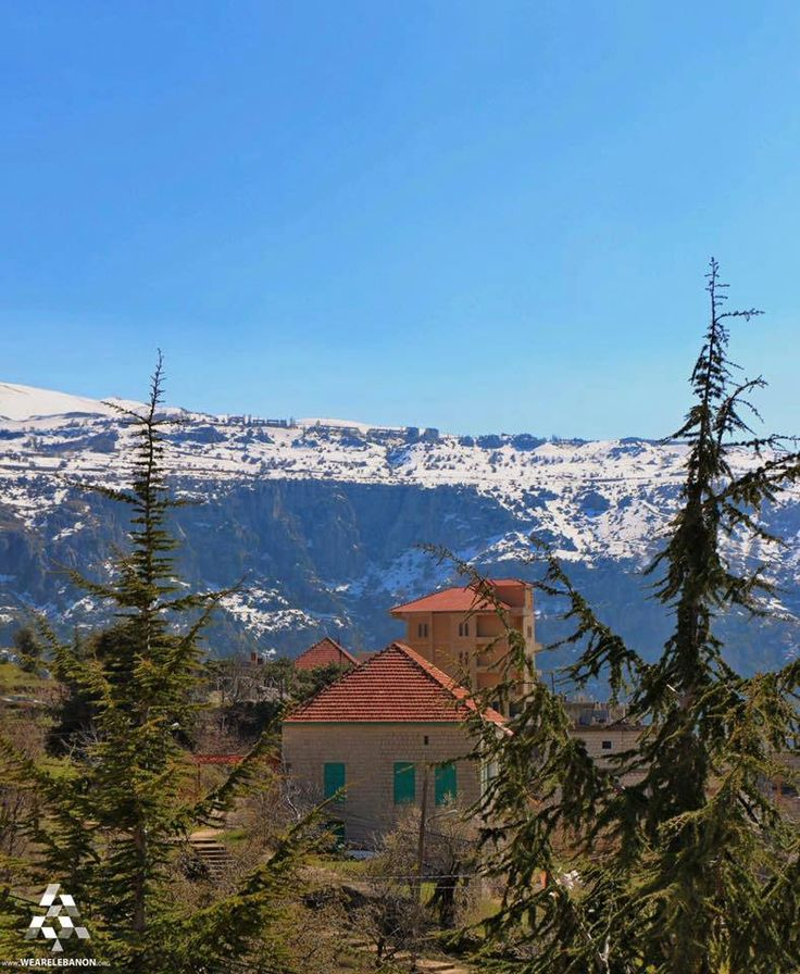 Have a beautiful morning from #Baskinta By Bassem Yassine  #Lebanon #WeAreLebanon