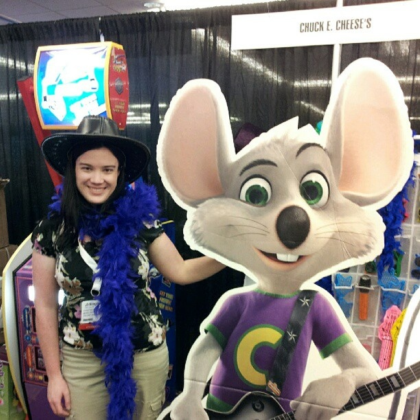 When posing with the new @Chuck E. Cheese, you need a leather cowboy hat and feather boa.Leather Cowboy, Cowboy Hats