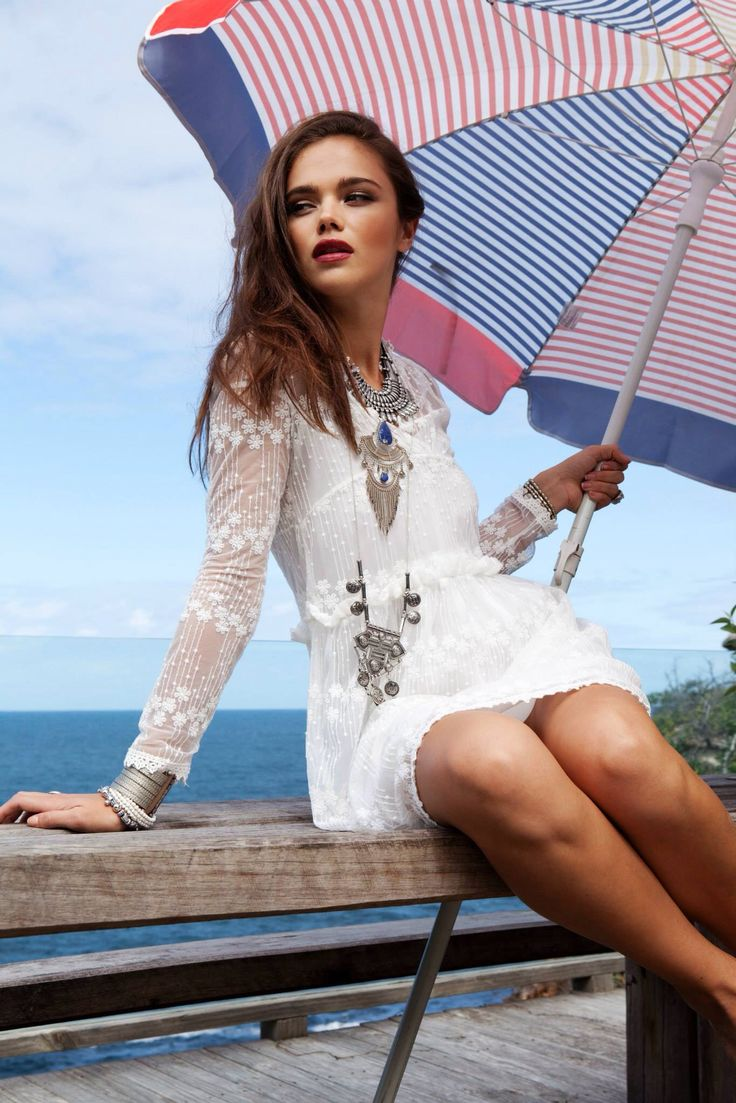 Boho style _ little white lace dress [www.scoutandjem.com.au]